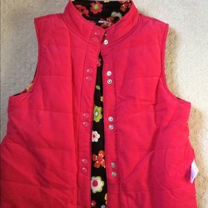Girls's Gymboree quilted corduroy reversible vest